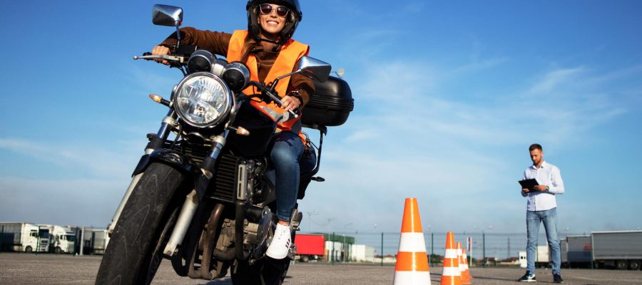 Person In Motorcycle Training Learning Texas Laws